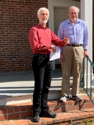 Dr. Carl Lee, retiring from the Math Dept. with Math Chair, Uwe Nagel