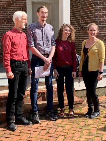 Dr. Nagel with Hunter Lehmann, Deborah Wilkerson and Rachel Petrik who will be interning this summer at Oak Ridge National Laboratory