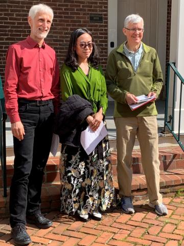 Dr. Nagel and Dr. Hislop with Ang Li who will be working as a Summer Research Assistant with Dr. Bert Guillou