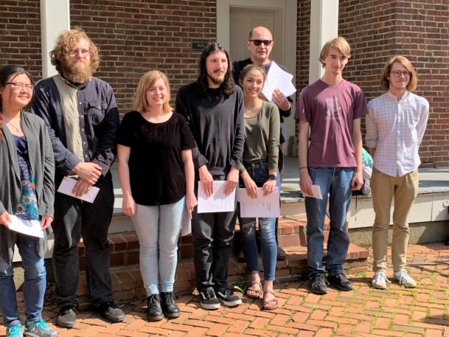 J.C. Eaves Scholarship recipients. Undergraduates Jessica Appel, Michael Harp, Madison Howard, Elijah Jackson, Owen McGrath, Jackson Morris, Angela Vichitbandha